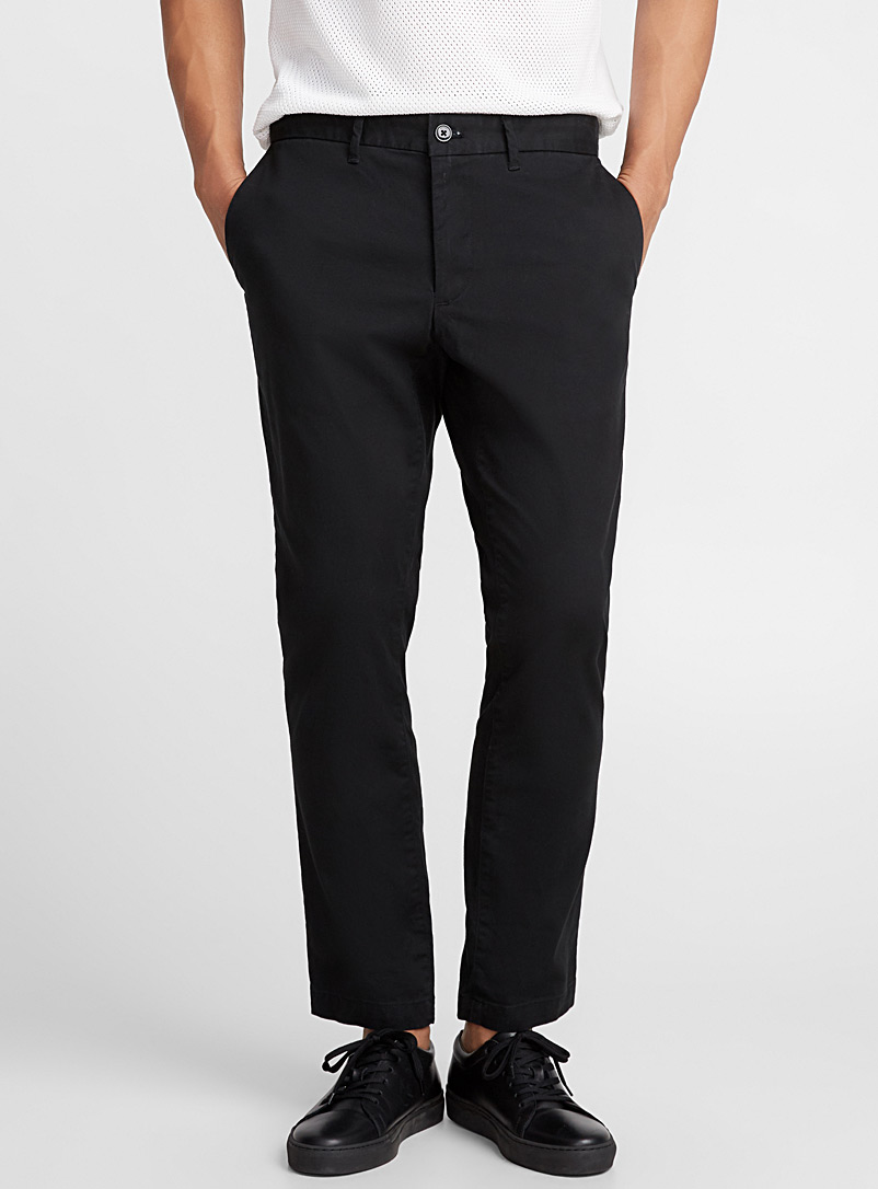 Stretch chinos  Slim fit - Slim fit - Black