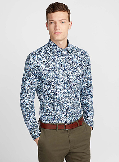 Indigo branch shirt  Semi-tailored fit