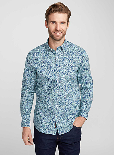 Modern botanical shirt  Semi-tailored fit