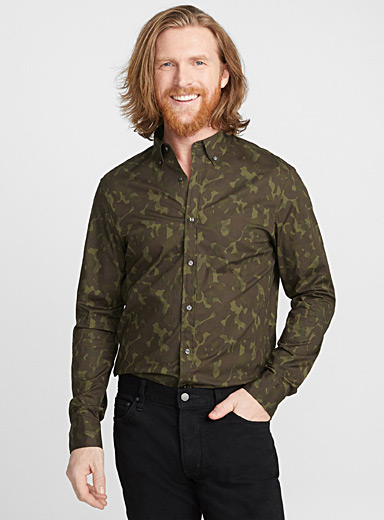 Camouflage shirt <br>Semi-tailored fit
