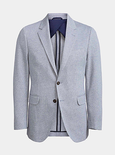 Michael Kors Dark Blue Two-tone knit jacket  Semi-slim fit for men