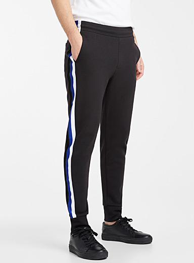 Tricolour striped band joggers