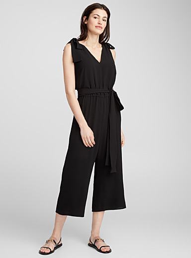 Fluid bow-strap jumpsuit