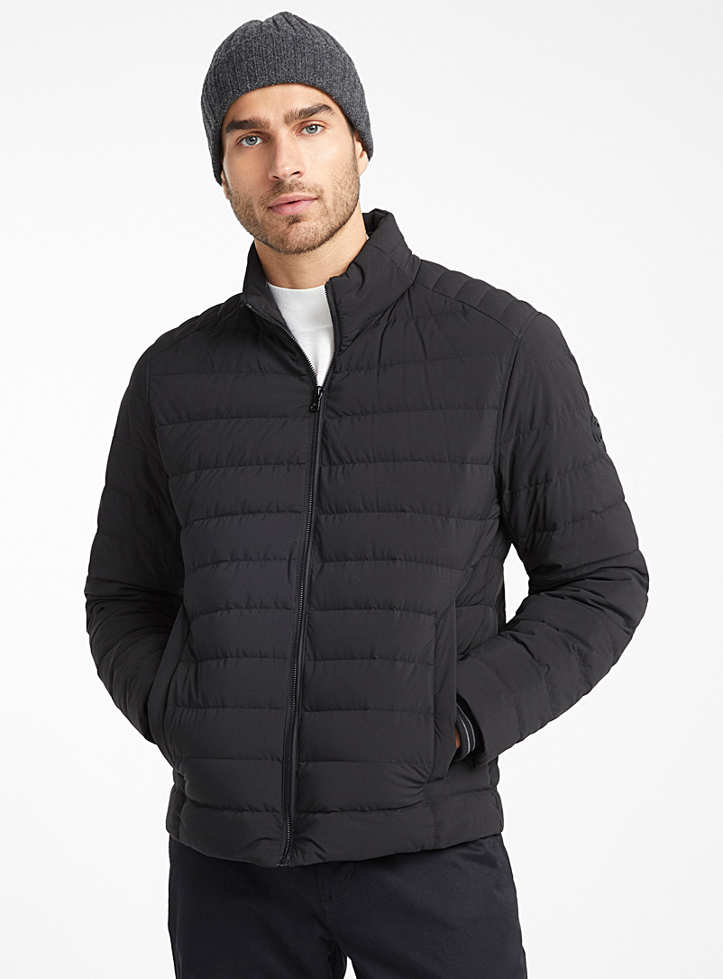 Packable stretch puffer jacket - Jackets & Vests - Black