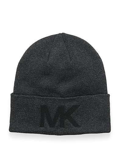Michael Kors Charcoal Initial cuff tuque for men