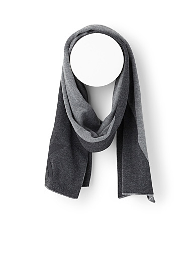 Michael Kors Light Grey Logo graphic scarf for men