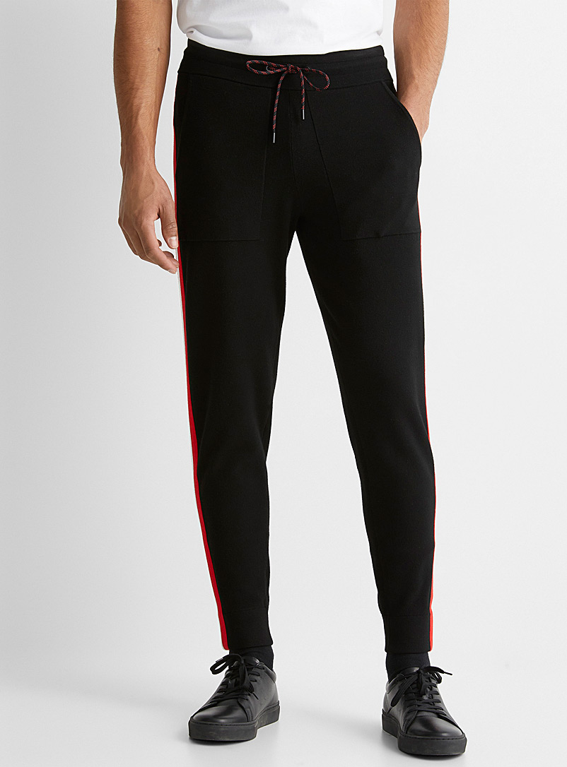 Michael Kors Black Athletic knit joggers for men