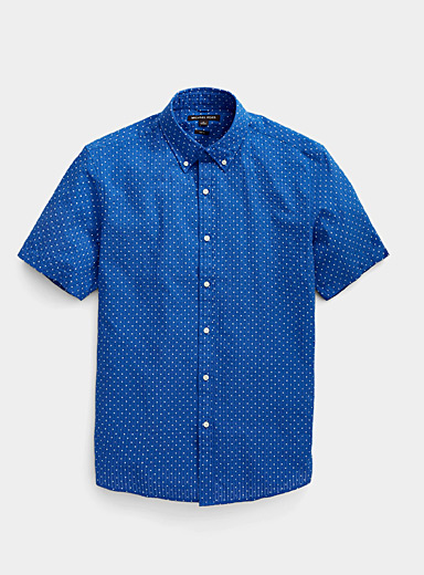Seersucker dotted shirt  Slim fit