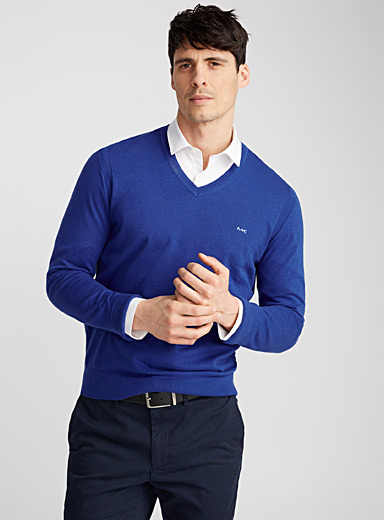 MK minimalist V-neck sweater