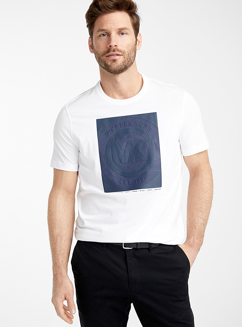 Michael Kors White Logo framed T-shirt for men