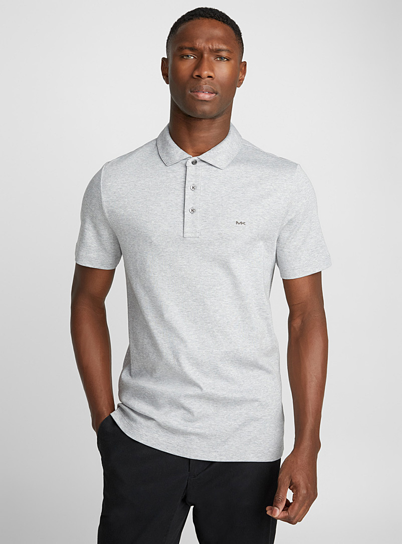 MK liquid cotton polo - Polos - Grey