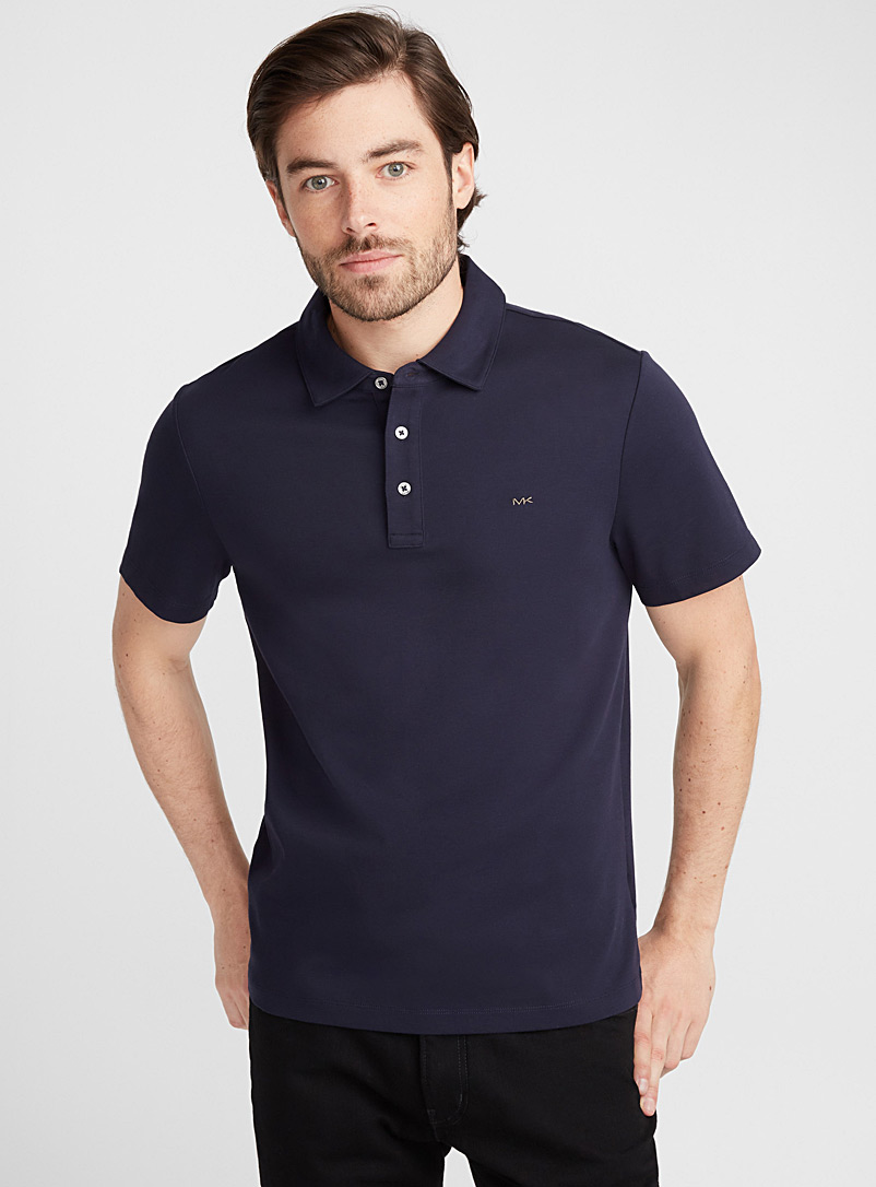 MK liquid cotton polo - Polos - Marine Blue