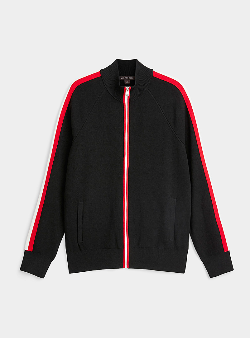 Michael Kors Black Sporty knit cardigan for men