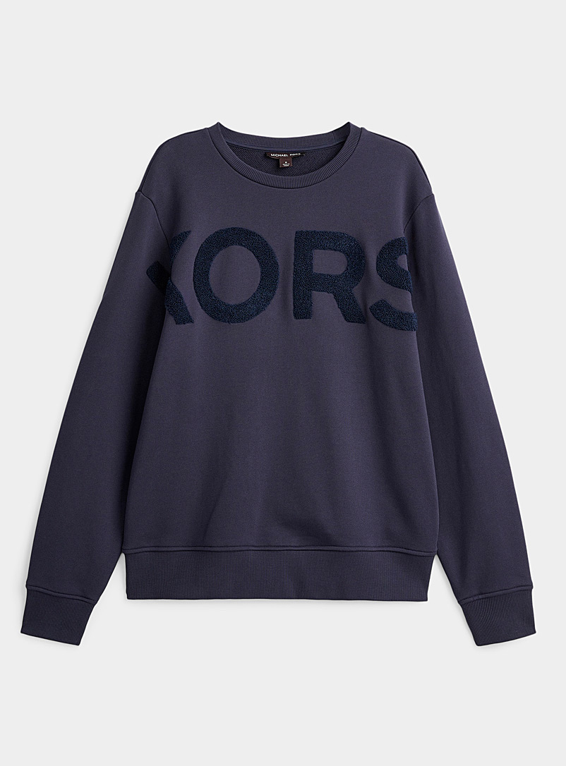 Michael Kors Marine Blue Terry logo sweatshirt for men