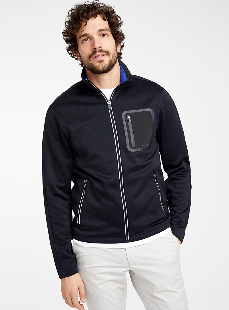 Michael Kors Black XTECH track jacket for men