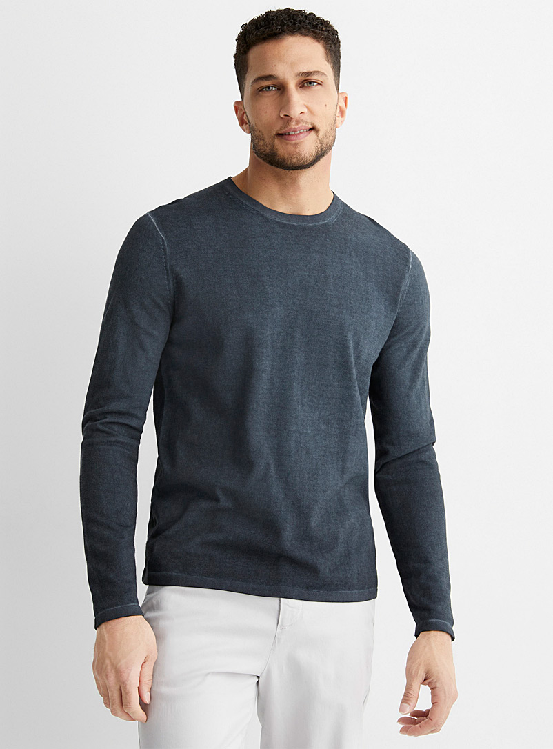 Michael Kors Marine Blue Faded tone sweater for men
