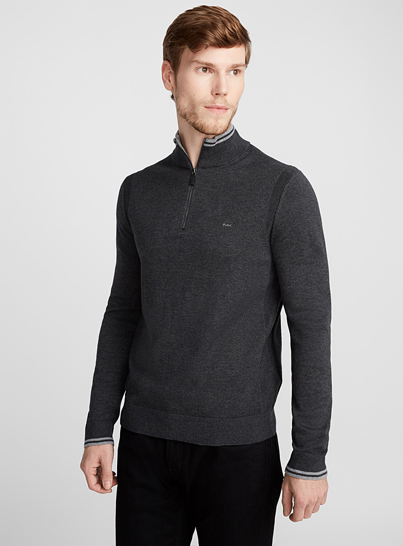 striped-trim-half-zip-top