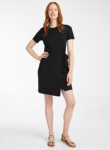 Michael      Michael Kors Black Wrap waist dress for women
