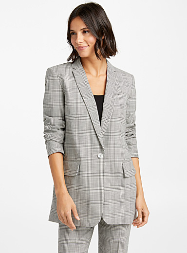Masculine check jacket