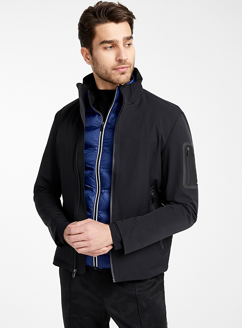 Michael Kors Black 3-in-1 shell jacket for men