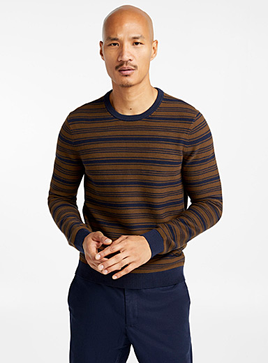 Multi-stripe ribbed sweater