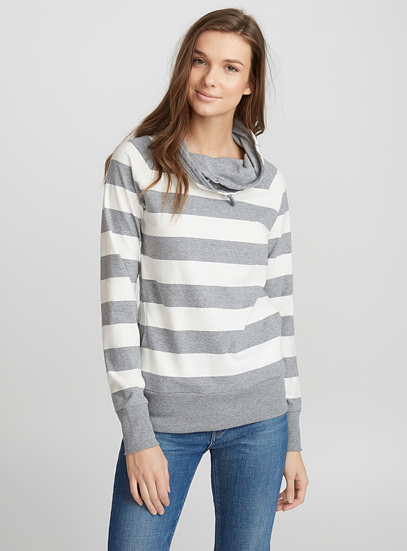 Striped sweatshirt - Sweatshirts & hoodies - Light Grey