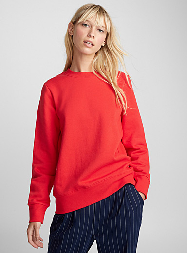 Ribbed accent sweatshirt