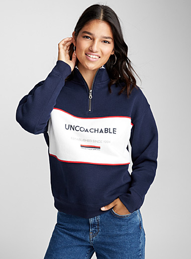Message half-zip sweatshirt