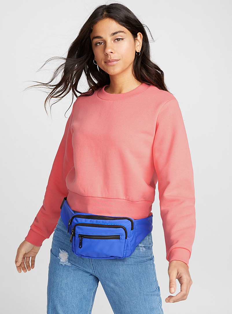 Basic cropped sweatshirt - Sweatshirts & Hoodies - Pink
