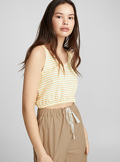 Cropped bubble cami