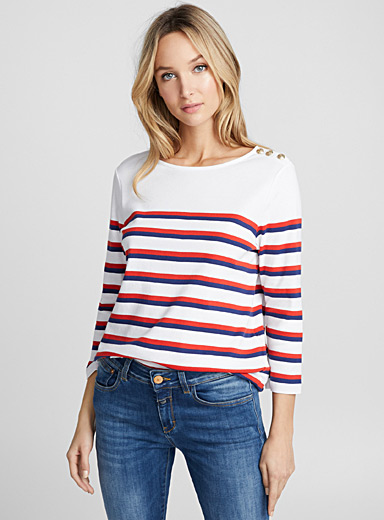 Nautical stripe tee