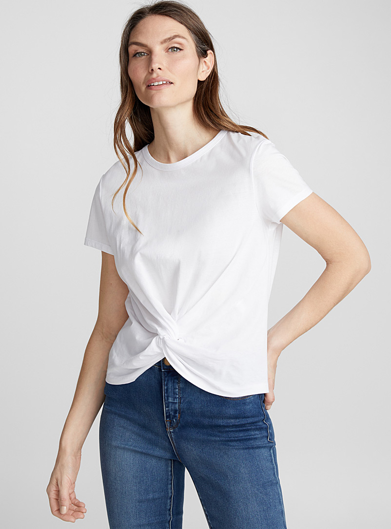 Organic cotton twisted tee - Organic Cotton