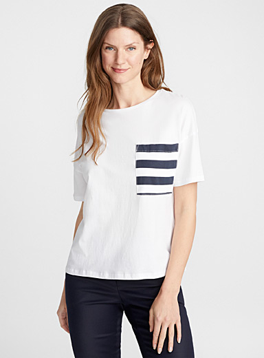 Accent pocket organic cotton tee