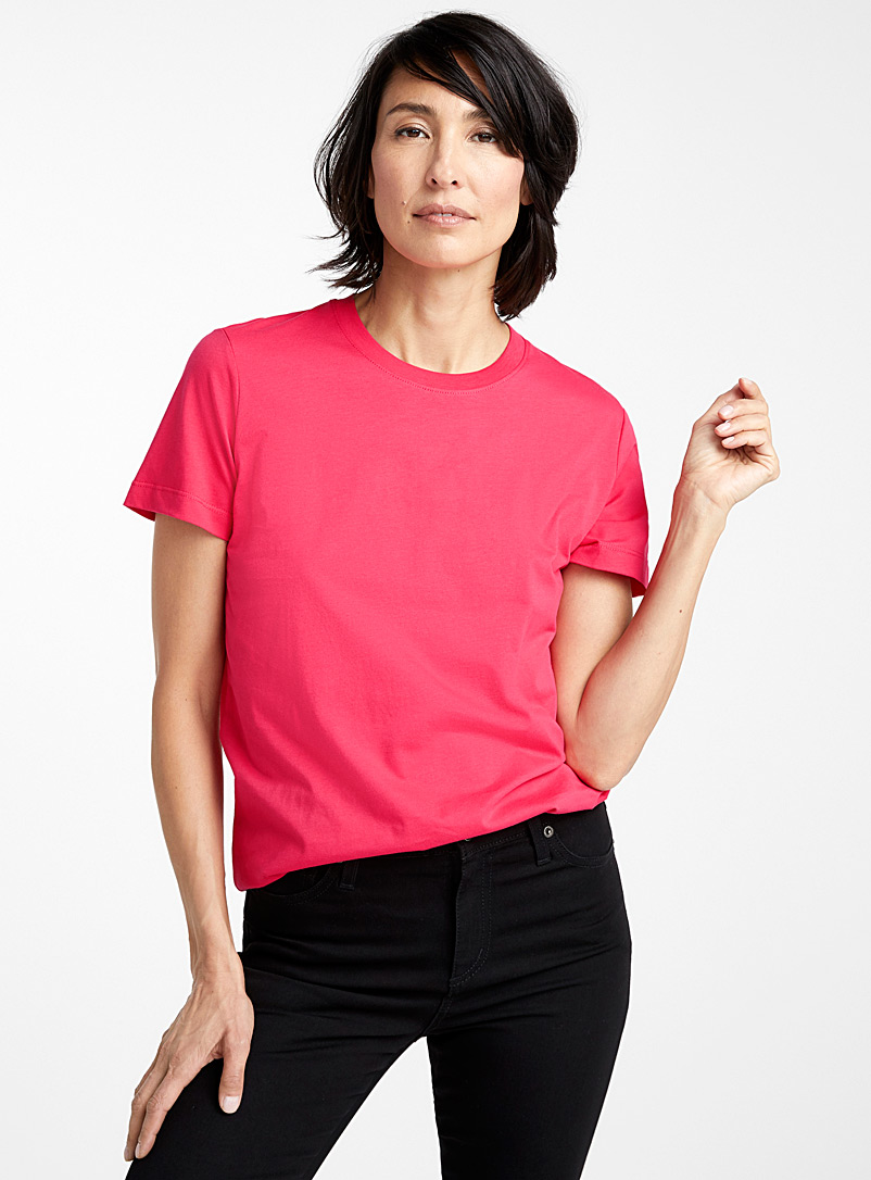 Contemporaine White Organic cotton crew-neck tee for women