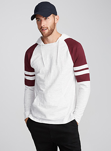 Hooded athletic T-shirt