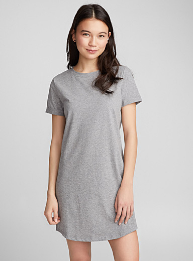 Organic cotton crew-neck dress