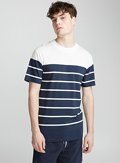 Striped block T-shirt