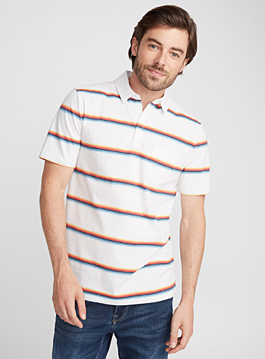 Primary stripe polo