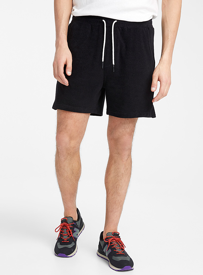 Le 31 Black Terry short for men