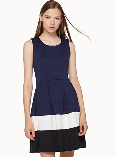 Colour block skater dress