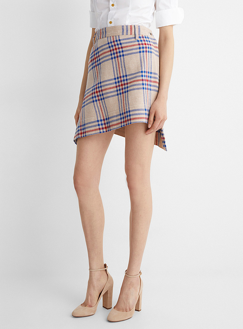 Vivienne Westwood Assorted Infinity tartan miniskirt for women