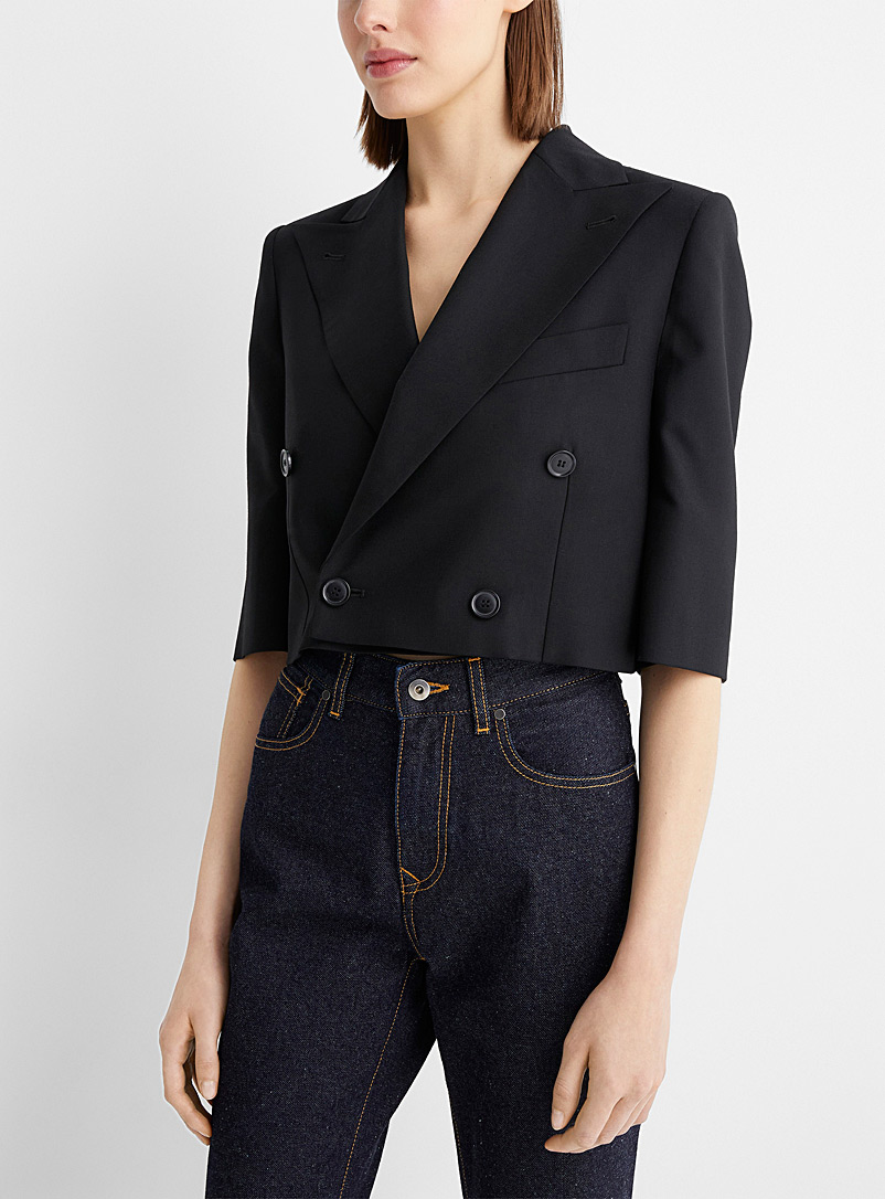 Vivienne Westwood Black Cropped double-breasted blazer for women