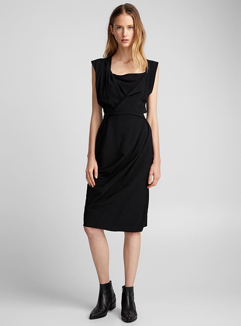 Sophisticated draped dress - Vivienne Westwood - Black