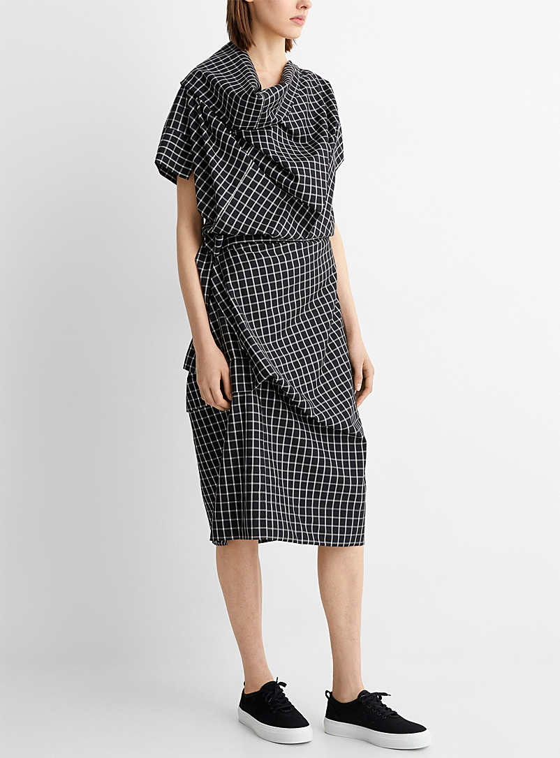 Vivienne Westwood Black Windowpane check Cliff dress for women