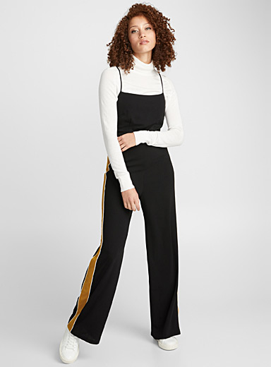 Accent stripe jumpsuit