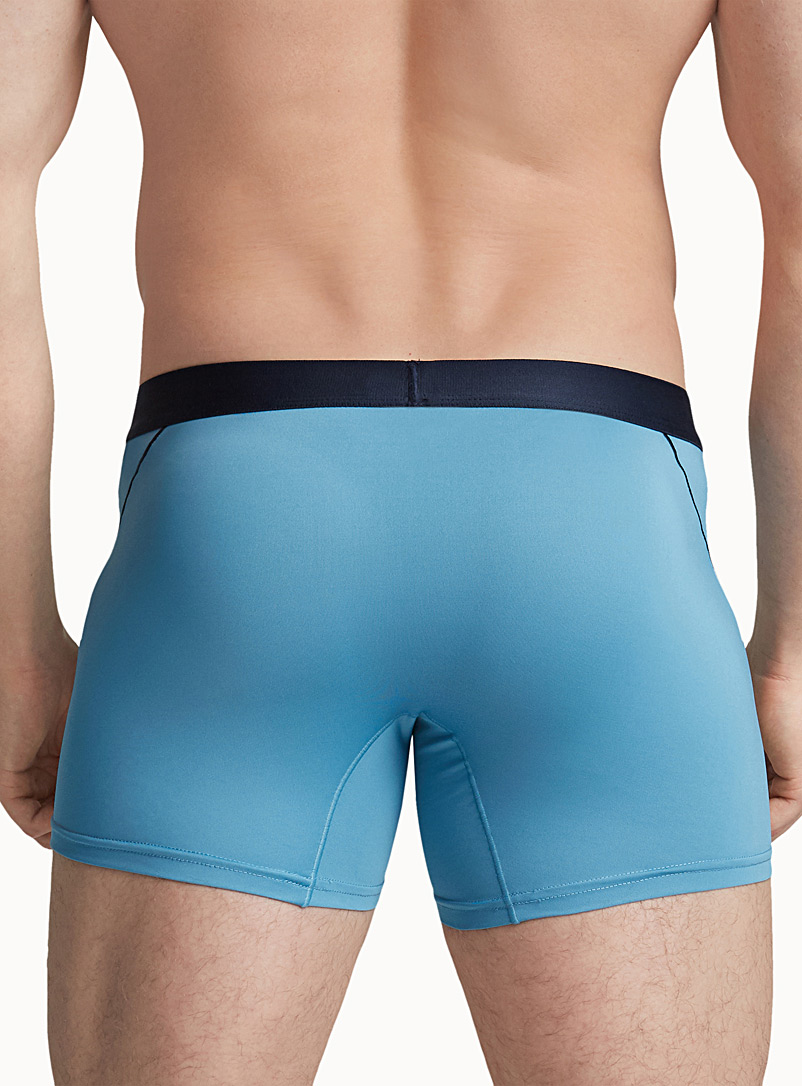 Colourful-accent microfibre trunk - Trunks - Slate Blue