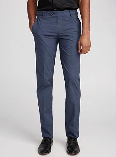 Micro check stretch pant <br>Slim fit