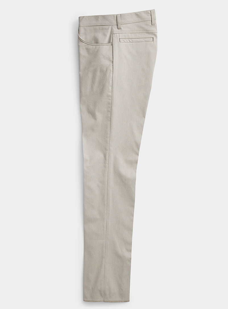 Citadin Sand Micro piqué pant  Straight, slim fit for men