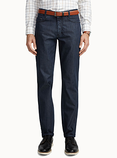 Indigo textured jean  Straight fit