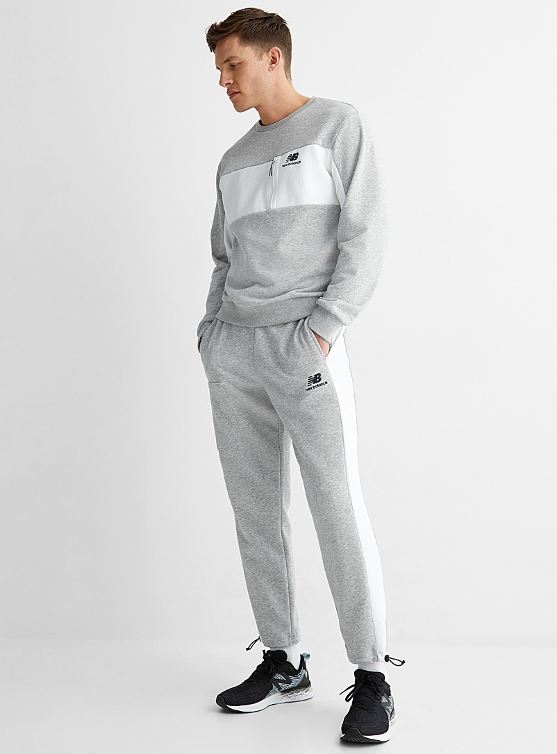 New Balance Grey Sporty cargo sweatpant for men